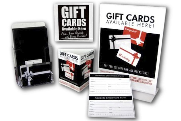 Gift loyalty reward cards inspire commerce for How to get gift cards for your business
