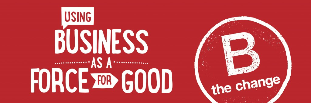 Using Business as a Force for Good Banner (red background) 2